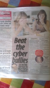 Niall Mulrine on Cyber Bullying in Irish Daily Mirror 26-9-12