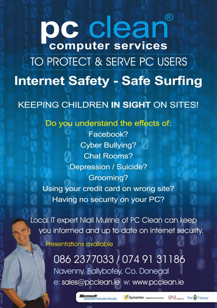 Niall Mulrine Internet Safety for Parents www.pcclean.ie